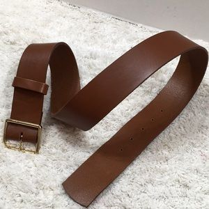Frame Denim dark tan leather belt